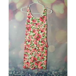 Flower H & M Mini-Dress